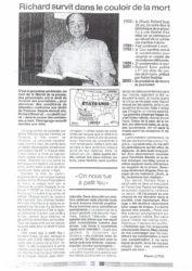 Ouest-France : comment Richard Rossi survit-il dans le couloir de la mort, par le journaliste français Pierre Luton.