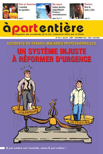 Il faut réformer le système de réparation des accidents du travail (AT/MP) !