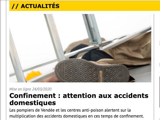 Les pompiers de Vendée et les centres anti-poison alertent sur la multiplication des accidents domestiques en ces temps de confinement. Pierre Luton (PLuton) rédacteur en chef d'A part entière