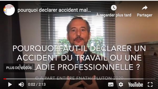 """La """"Sécu"""" garantit aux salariées et aux salariés une indemnisation spécifique en cas d'accident du travail ou de maladie professionnelle. Pierre Luton, rédacteur en chef d'A part entière."""
